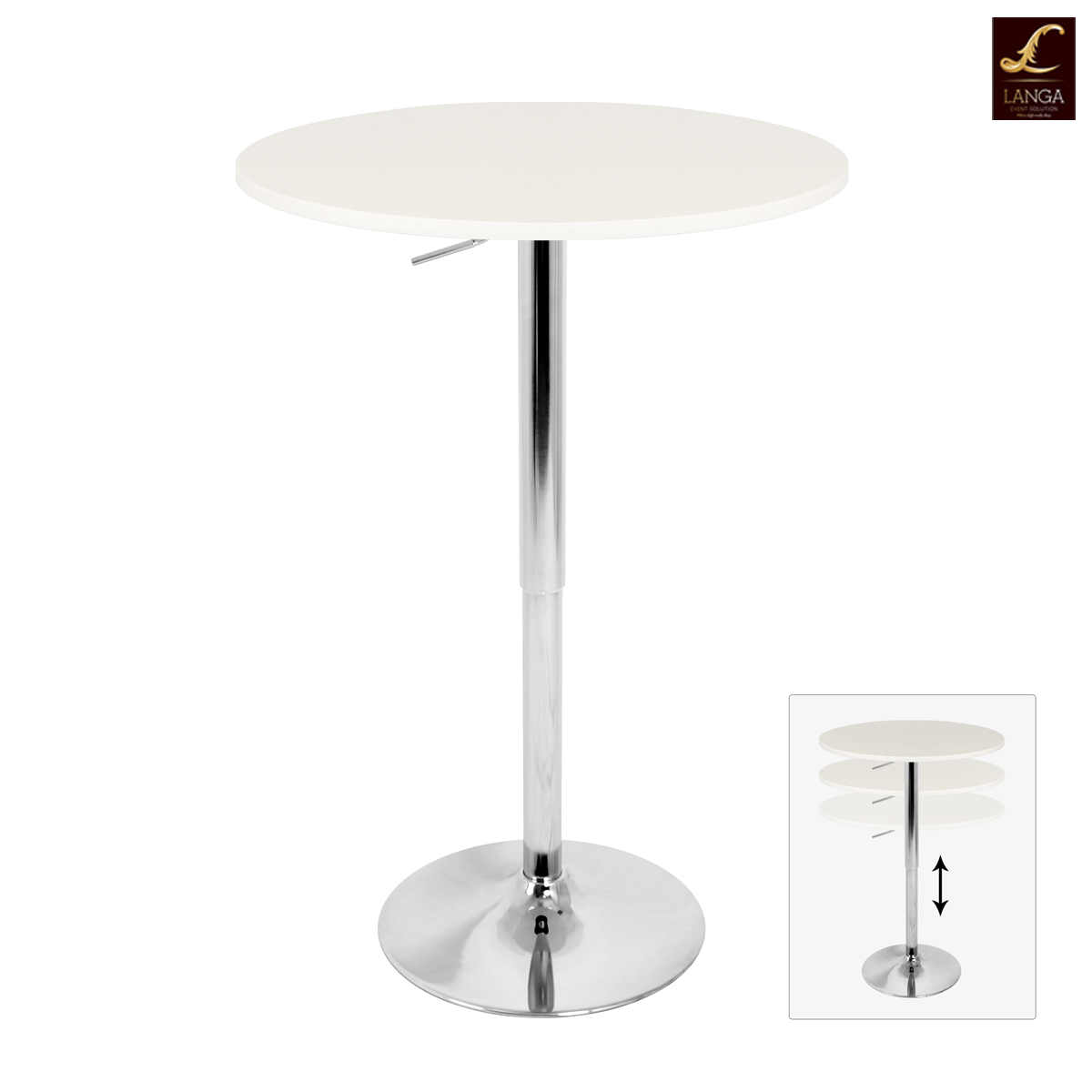 Adjustable Height Table  White